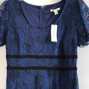 Francesca's: A-line mid length dress with lace